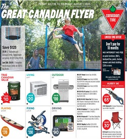Canadian Tire Flyer 07/26/13-08/01/13. Trampoline and Enclosure Combo Sale