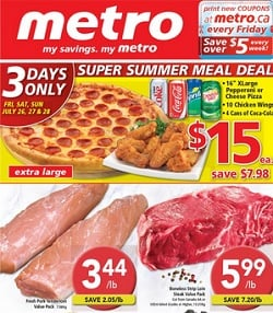 Metro Flyer 07/26/13-08/01/13. Super Summer Meal Deal