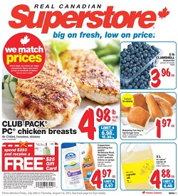 Superstore Flyer 07/26/13-08/01/13. Chicken Breasts and Blueberries Sale