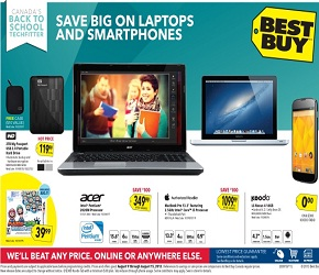 Best Buy Flyer 08/09/13-08/15/13. Acer Laptop or Nintendo 3DS Mario & Luigi Dream Team Sale