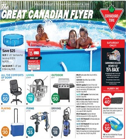 Canadian Tire latest Flyer 08/02/13-08/08/13. Steel Frame Pool Sale