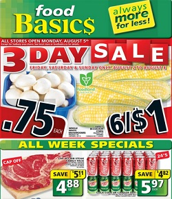 Food Basics Flyer 08/02/13-08/08/13 Sale. Cap Off Rib Steak Family Pack