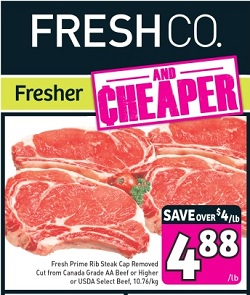 Latest Freshco Weekly Ad 08/15/13-08/21/13. USDA Select Beef Sale