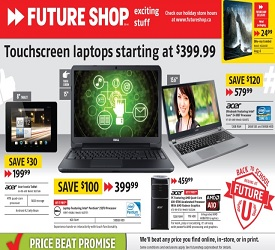 Future Shop Flyer 08/02/13-08/08/13 Sale. Dell Laptop and Acer Iconia Tablet