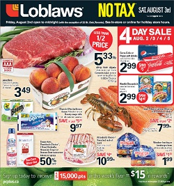 Loblaws Flyer 08/02/13-08/08/13. Strip Loin Steak Sale