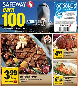 Safeway Weekly Specials 08/09/13-08/15/13. Top Sirloin Steak