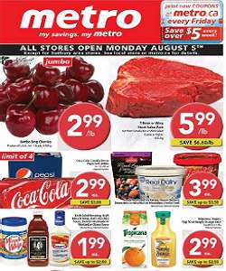 Metro Flyer 08/02/13-08/08/13. T-Bone or Wing Steak value Pack