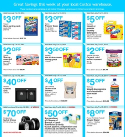 Costco Online Flyer 07/07-07/13/2014  Bridgestone Tires