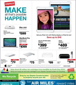 Staples flyer 16 July 2014