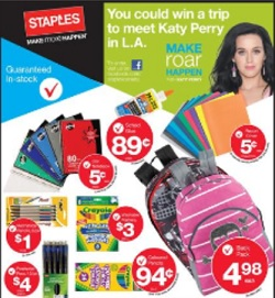 Staples flyer