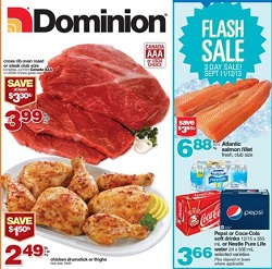 Dominion grocery flyer