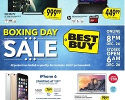 Best Buy Boxing Day 2014 Flyer. Apple iPhone 6 16GB Sale