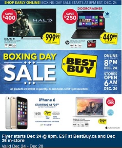 Best Buy Boxing Day 2014