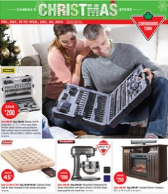 Canadian Tire Christmas Flyer