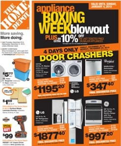Home Depot Boxing Day 2014 Flyer