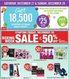 Shoppers Drug Mart Boxing Day 2014