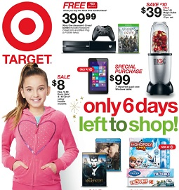 Target Christmas Flyer December 19 – 24, 2014. Early Boxing Day Sales