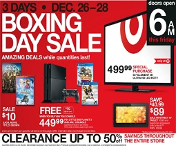Target Boxing Day 2014 Flyer December 26 – 28, 2014. PS4 Little Big Planet 3 and NHL 15 Bundle
