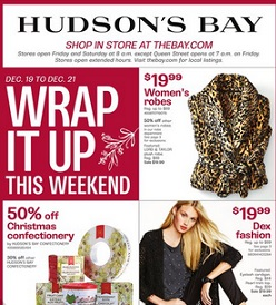 The Bay Online Flyer 12/19 – 12/24/2014. Pre Boxing Day Sales