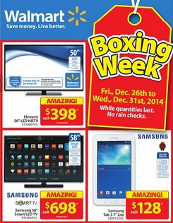Walmart Boxing Day 2014 Flyer