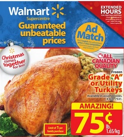 Walmart Supercentre Christmas Flyer December 18 – 24, 2014. Early Boxing Day Sales