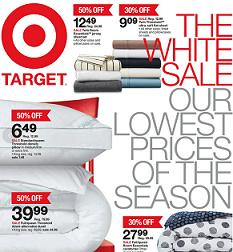 Target Flyer good through 01/08/2015. The White Sale