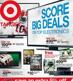 Target Weekly Flyer January 23 – 29, 2015. Magnavox 55″ 60Hz 1080p LED HDTV