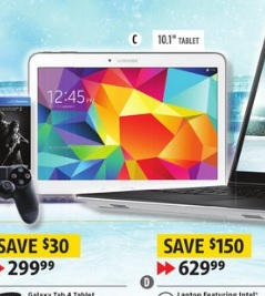 Future Shop Weekly Flyer March 27 – April 2, 2015. Samsung 10.1″ 16GB Galaxy Tab 4 Tablet With Wi-Fi – White