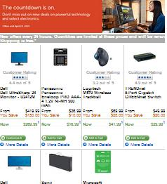 Dell Online Flyer valid through 04/23/2015. UltraSharp 24 Monitor