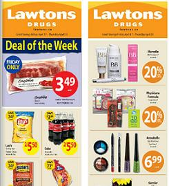 Lawtons Weekly Flyer valid through 04/23/2015. Lay's Family Size