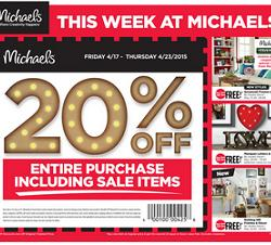 Michaels Weekly Flyer 04/17 – 04/23/2015. Savannah Frames & Décor