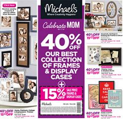 Michaels Online Flyer valid through 04/30/2015. 40% Off Best Collection of Frames & Display Cases