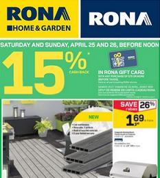 Rona Flyer valid through 04/29/2015. Composite Decking Board