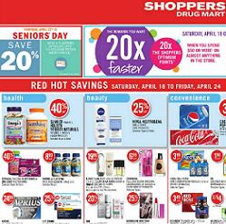 Shoppers Drug Mart Flyer valid through April 24, 2015