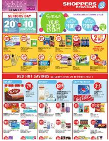 Shoppers Drug Mart Weekly Flyer valid through May 1, 2015. Pampers Super Boxed Diapers