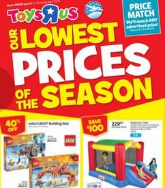 Toys R Us Weekly Flyer April 17 – 23, 2015. Lowest Prices Of The Season
