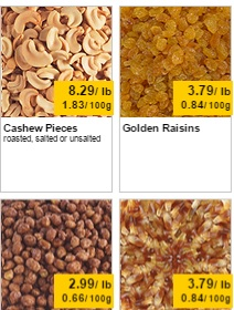 Bulk Barn Weekly Flyer 04/10 – 04/16/2015. Cashew pieces roasted, salted or unsalted