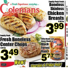 Colemans Flyer valid until 04/29/2015. Fresh Boneless Center Chops