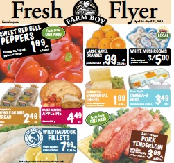 Farm Boy Flyer 04/16 – 04/22/2015. Swiss Style Emmental Cheese