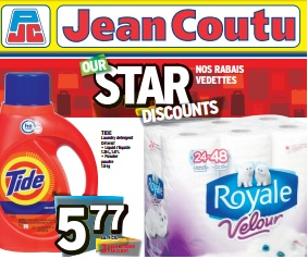 Jean Coutu Weekly Flyer valid until 04/09/2015. Tide Laundry Detergent