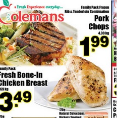 Colemans Flyer valid until 05/13/2015. Fresh Bone-in Chicken Breast