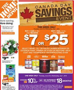 View Home Depot West Vancouver Flyer