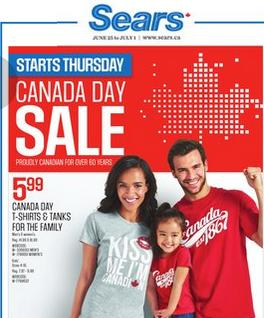 Sears Online Flyer 06/25 – 07/01/2015. Canada Day Sale