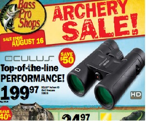 Bass Pro Shops Flyer valid until 08/16/2015. Oculus Pro Team HD