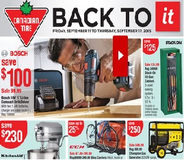 Stupendous Canadian Tire Flyer 09 11 09 17 2015 Kitchenaid Home Remodeling Inspirations Genioncuboardxyz