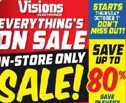 visions electronics flyer sales