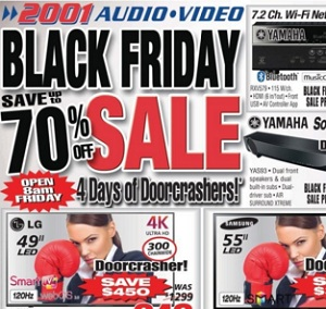 2001 Audio Video flyer & hours