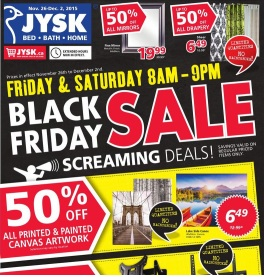Jysk Black Friday 2015 Flyer Sales. Beaverlux Washcloth Towels