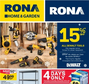 Rona Black Friday 2015 Deals. 18-V Drill and Impact Driver Combo