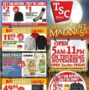 TSC Stores Black Friday 2015 Deals. 30-44 Men's Unlined Twill Works Pants